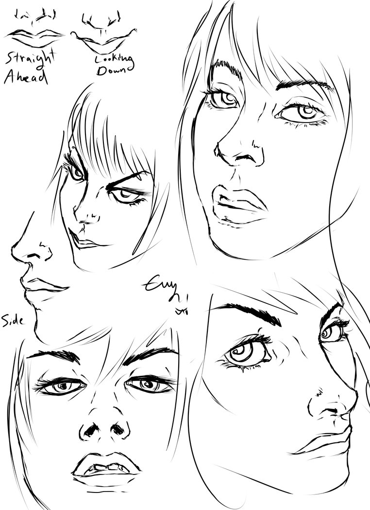 762x1049 Face Angle References By Evymonster9406