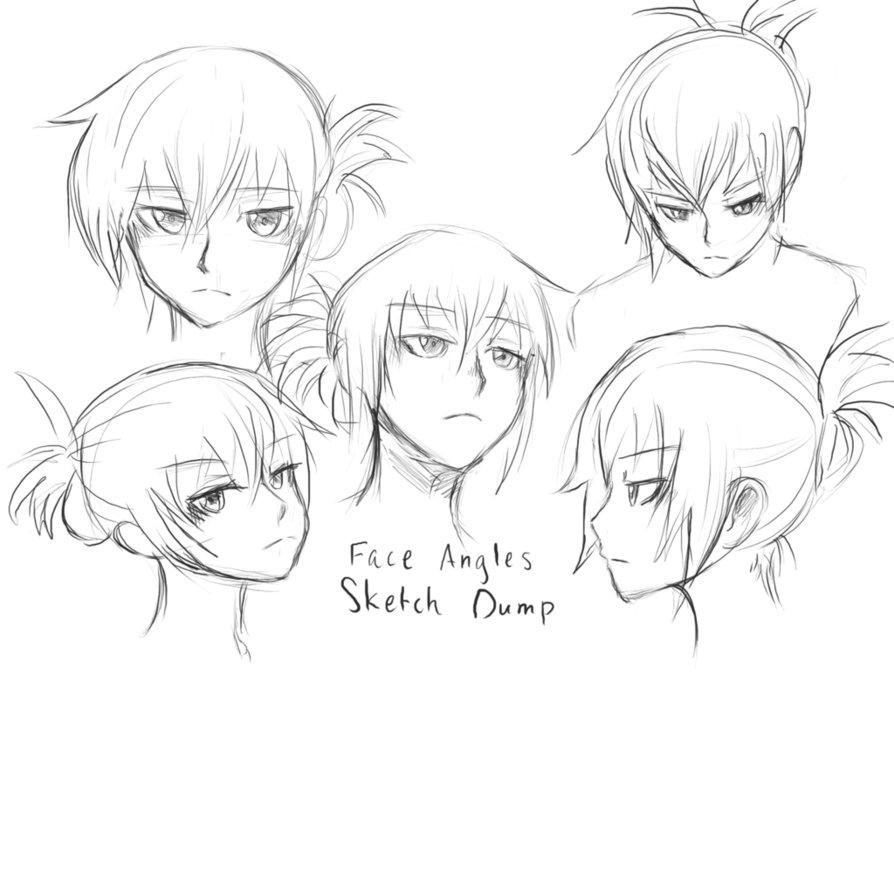 894x894 Face Angles Sketch Dump By Pokurimio