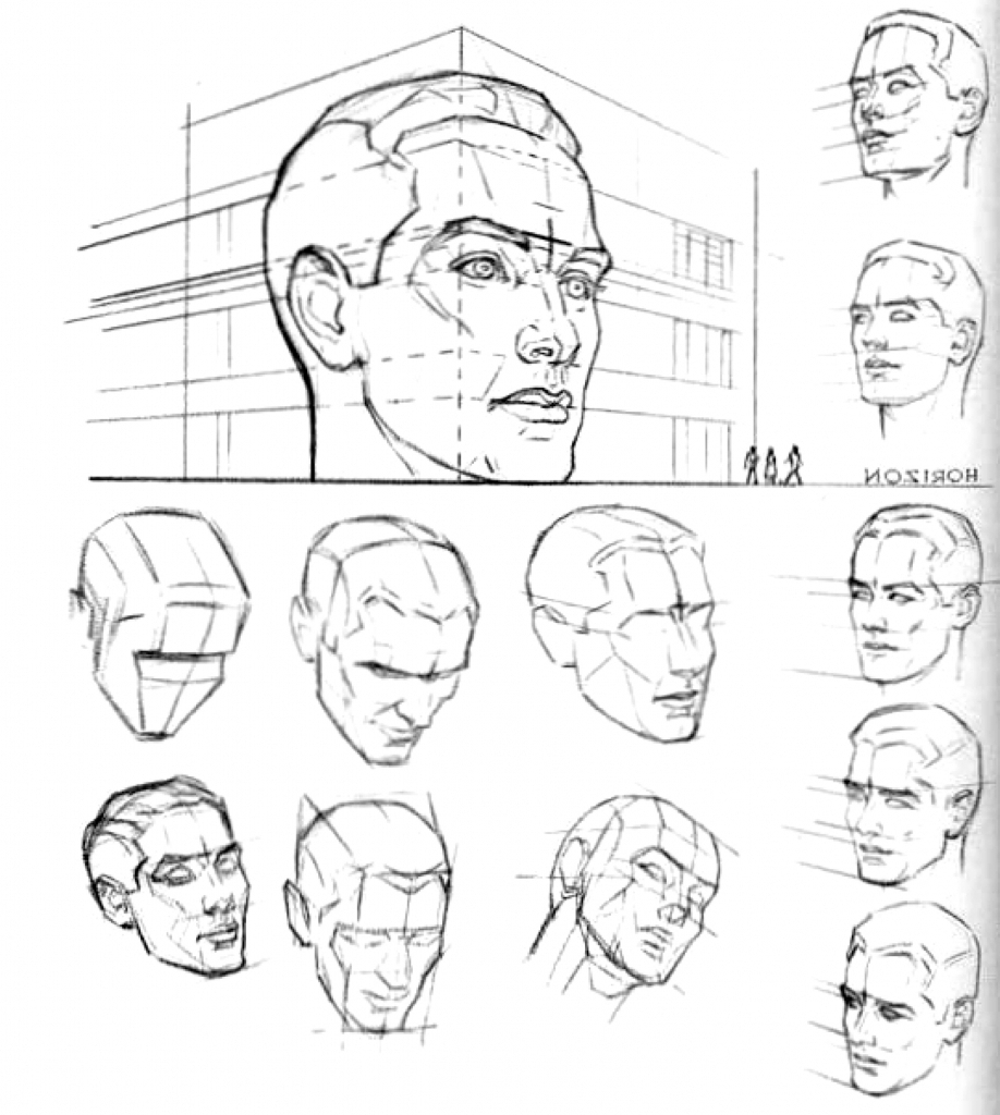 918x1024 Perspective Drawing Of Face Face Drawing Angles Reference Head