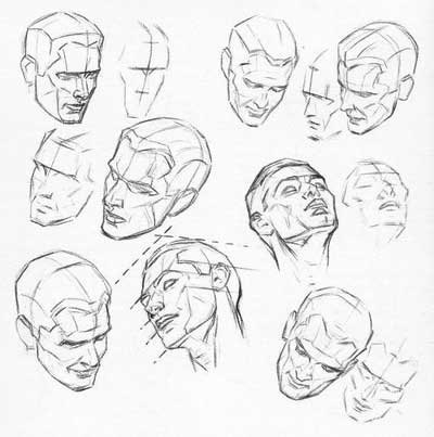 400x403 Planes Of The Head With Loomis Feeling The Form
