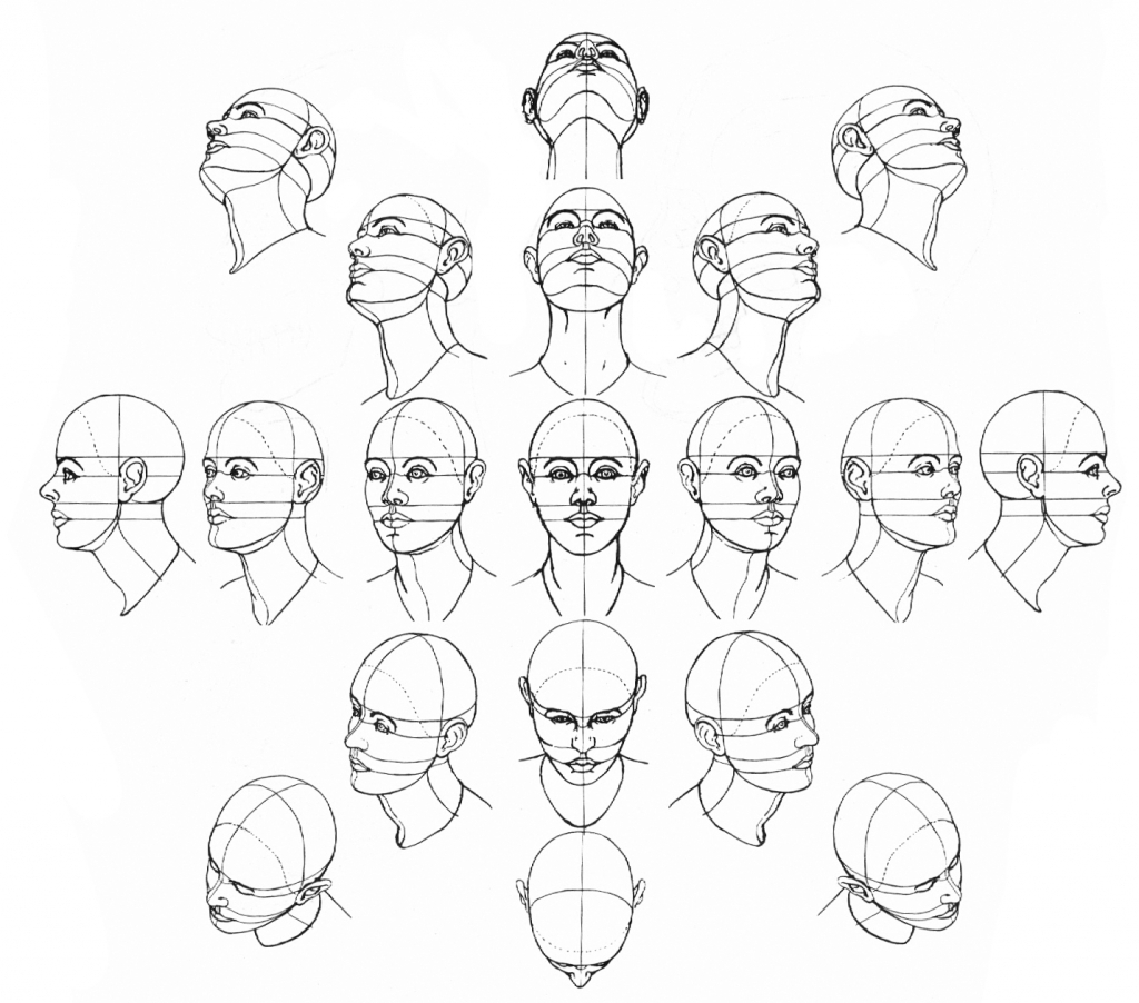 1024x902 Drawing Of Different Faces Drawing Face In Different Angles How