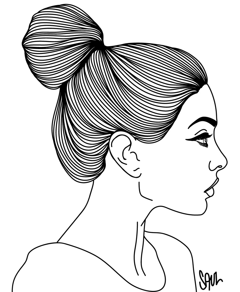 841x1024 Simple Side Face Sketch Side View Drawing Face Girl Side Face