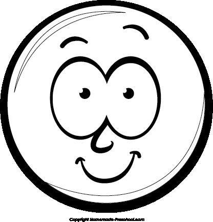 416x433 Png Happy Face Black White Transparent Happy Face Black