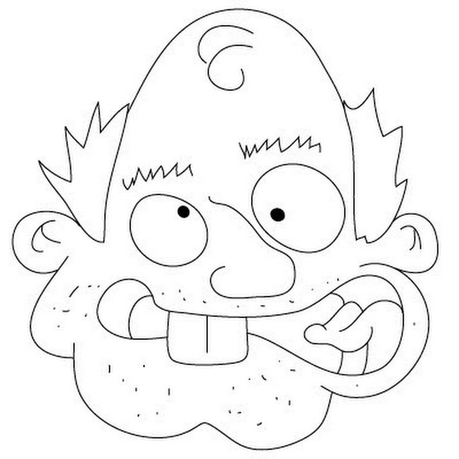 900x900 Funny Cartoon Face Drawing Picture