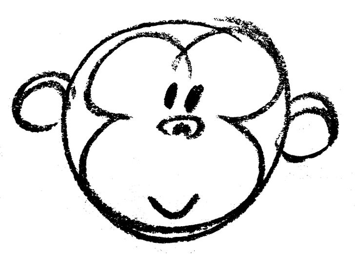 728x521 How To Draw A Cartoon Monkey Face 14 Steps (With Pictures)