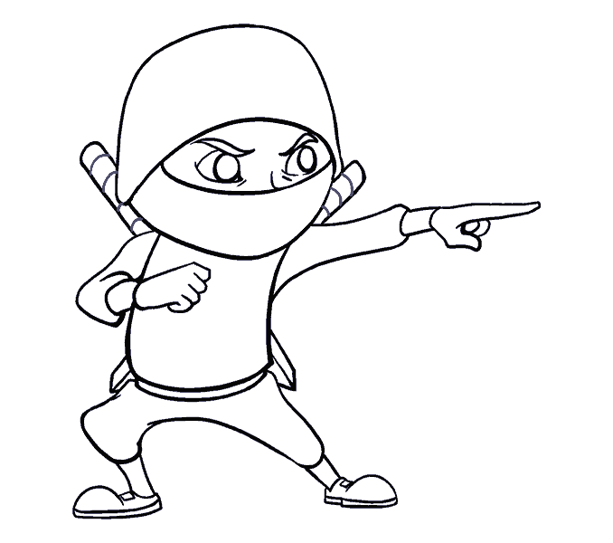 678x600 How To Draw A Cartoon Ninja In A Few Easy Steps Easy Drawing Guides