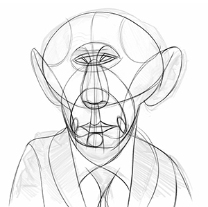 300x299 The Abstraction Reilly Method For Caricature Drawing Proko