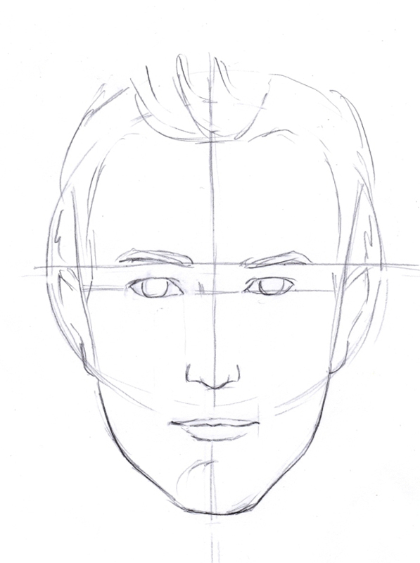 597x800 Construction Of The Face Like Sketch