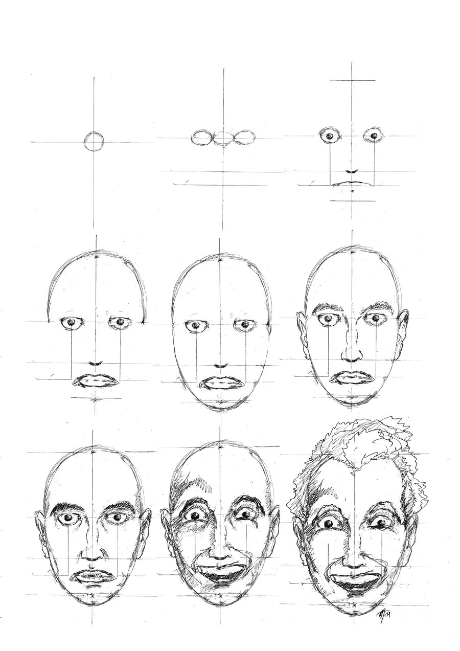 900x1273 Drawing A Proportional Face By Deviant526