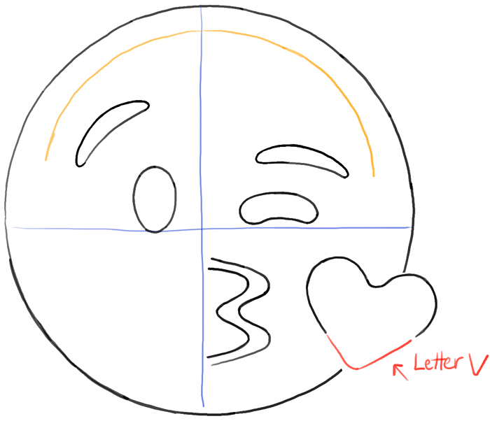 700x602 How to Draw Kissing Heart Emoji Face with Easy Steps Drawing