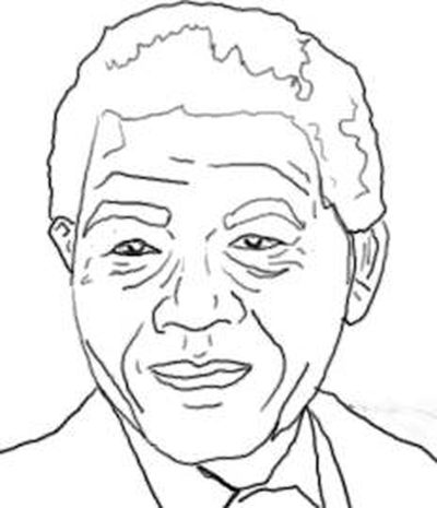 400x465 How to Draw Nelson Mandela#39s Face (with Pictures) eHow