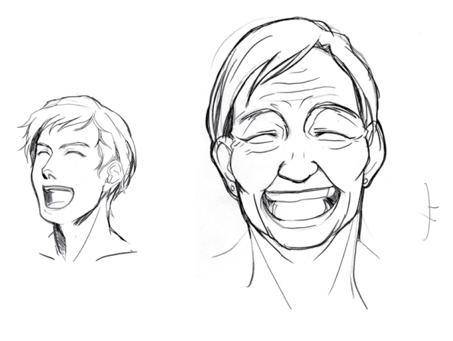 916x691 How To Draw A Laughing Face For Manga Or Anime