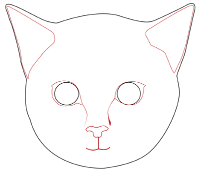 396x341 How to Draw a Realistic Cat#39s Face 11 Steps (with Pictures)