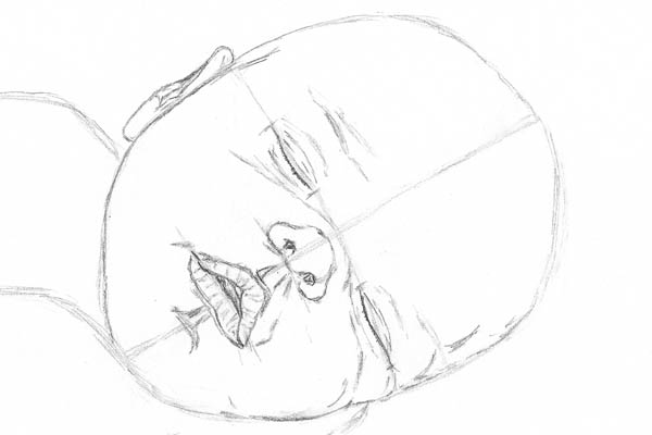 600x400 How to Make a Drawing of a Baby Sleeping Let#39s Draw People