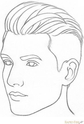 293x433 How to draw a face from 34 view Face, Drawings and Drawing ideas