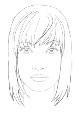 264x376 How to draw hair female ShareNoesis