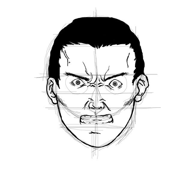 600x600 Pencil sketches and drawings How to Draw an Angry Face