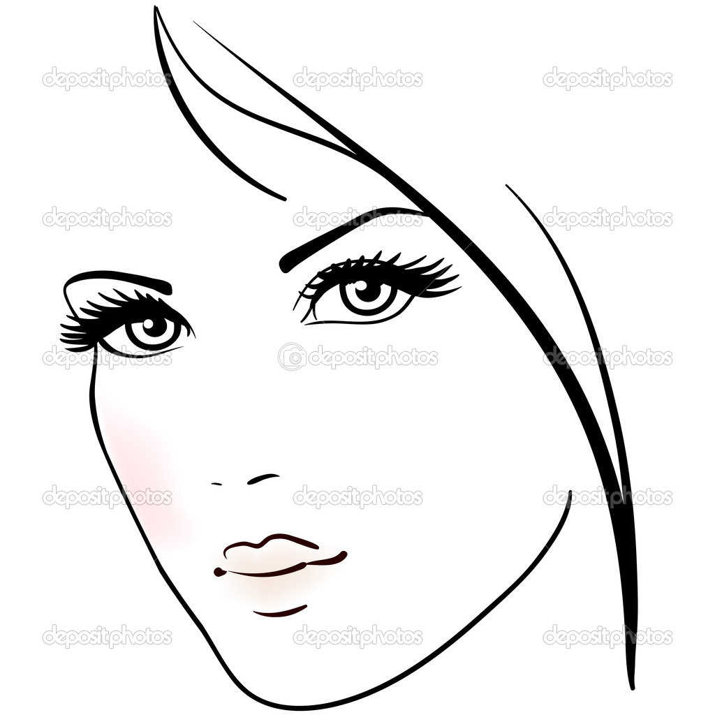1024x1024 Simple Drawing Of A Woman Easy To Draw Female Faces Beautiful