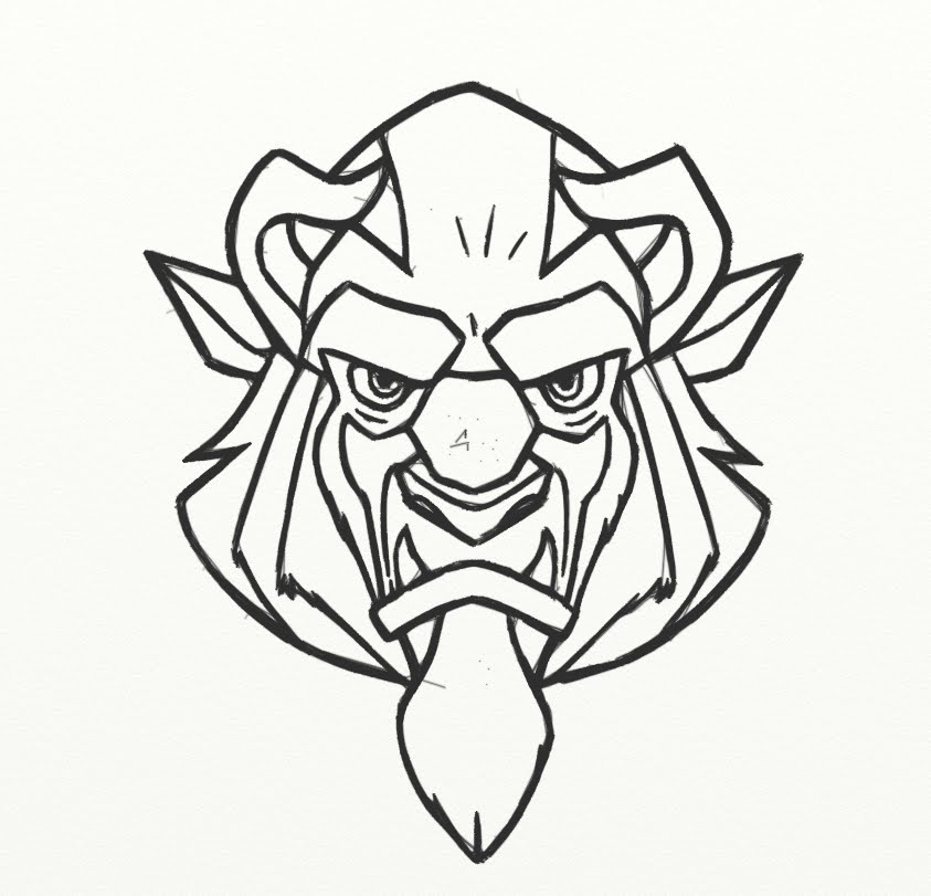 843x811 How To Draw Beast From Beauty And The Beast Face