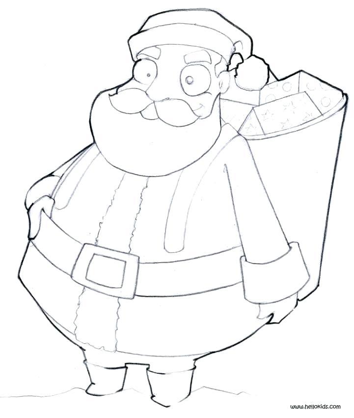 721x850 Santa Face Coloring Page Santa Face Coloring Page Template