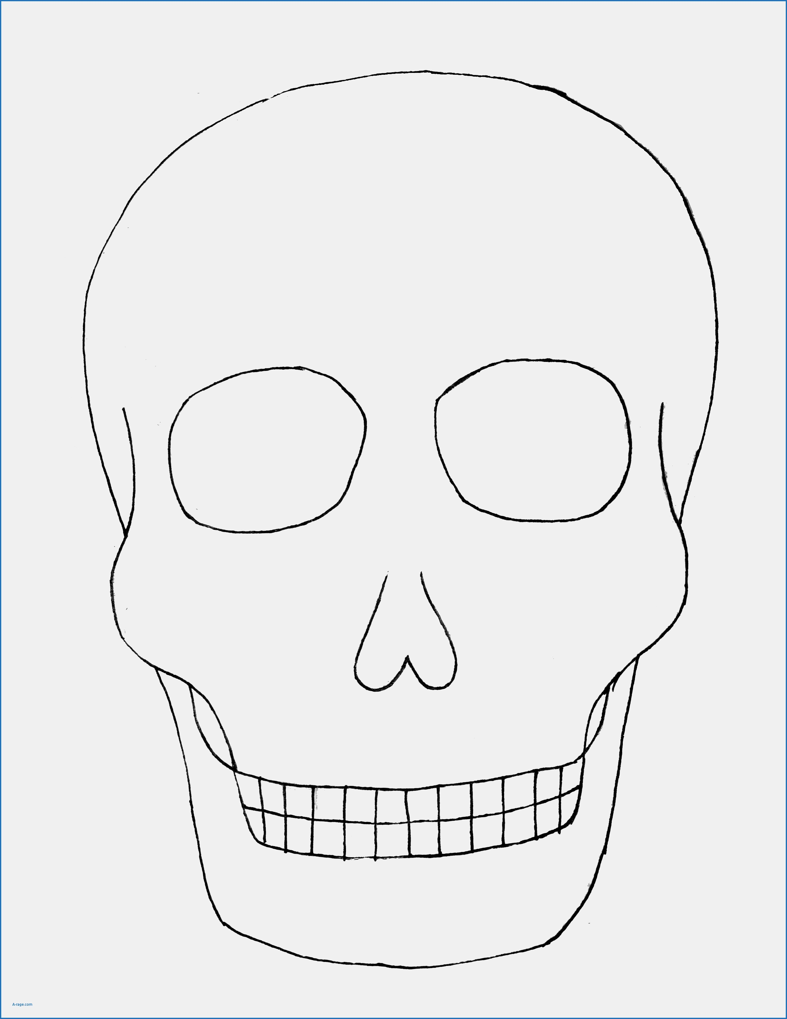 Rare image regarding day of the dead skull template printable