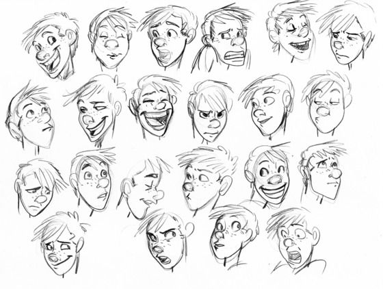 Face Expressions Drawing