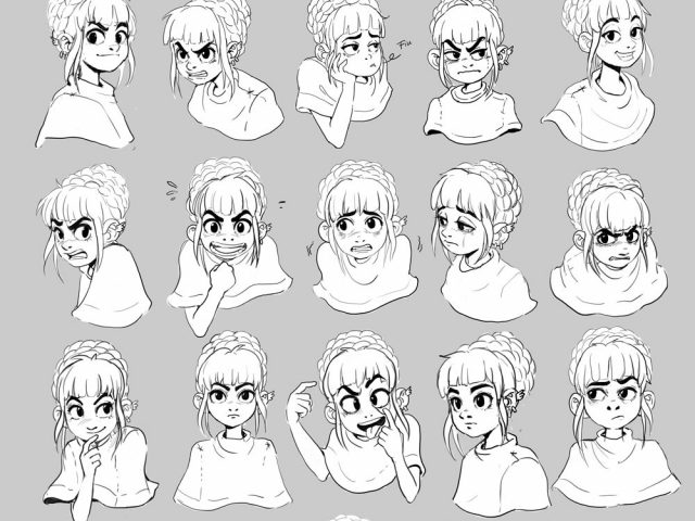 640x480 Facial Expressions Drawing Drawn Expression Illustration