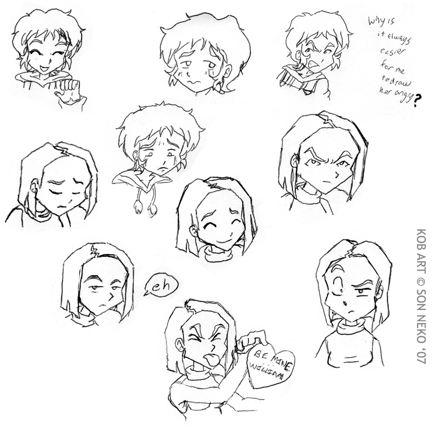 864x864 Facial Expression Practice By Son Neko