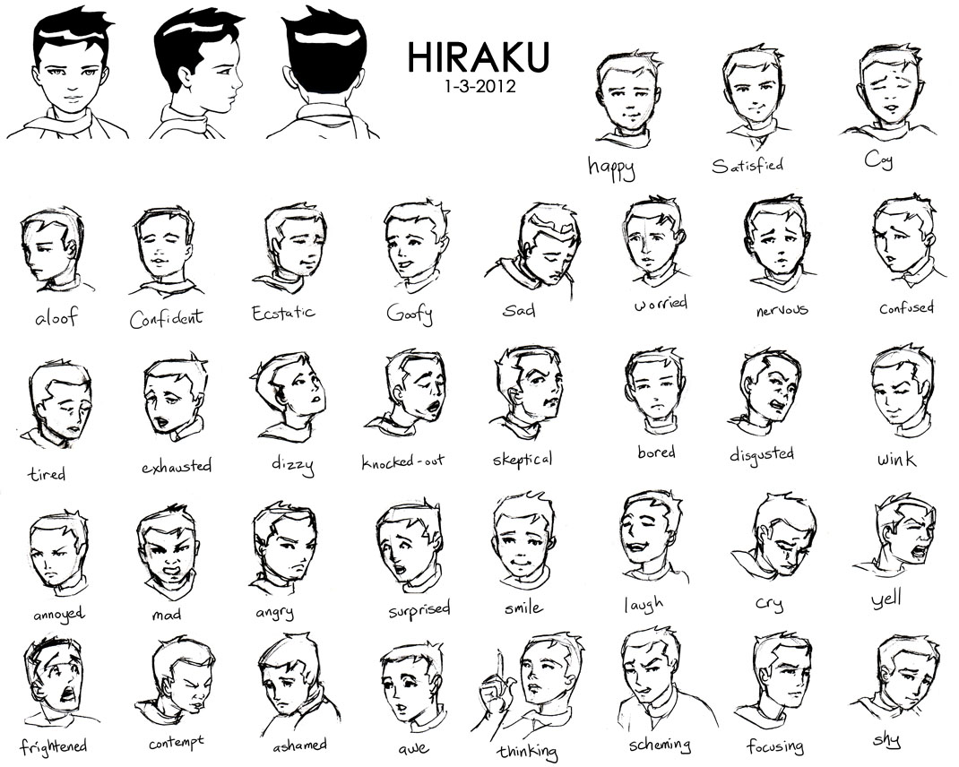 1070x856 Nguyens Blog Hirakus Facial Expressions Sketching