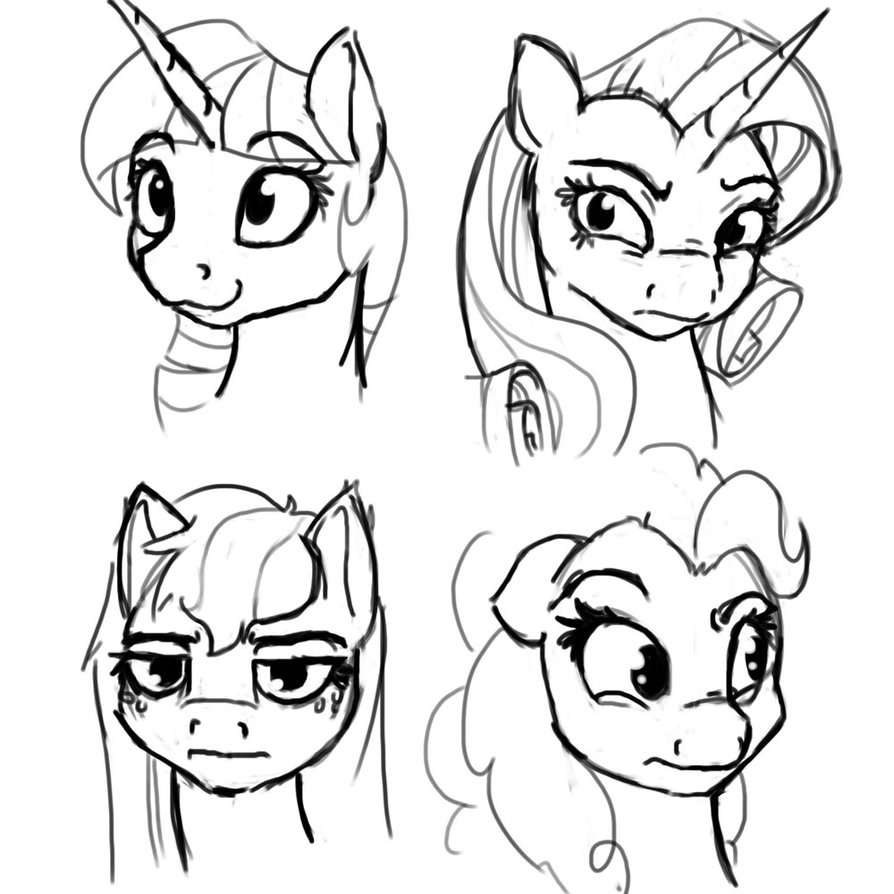 894x894 Sketch 4 22 Facial Expressions By Geomancing