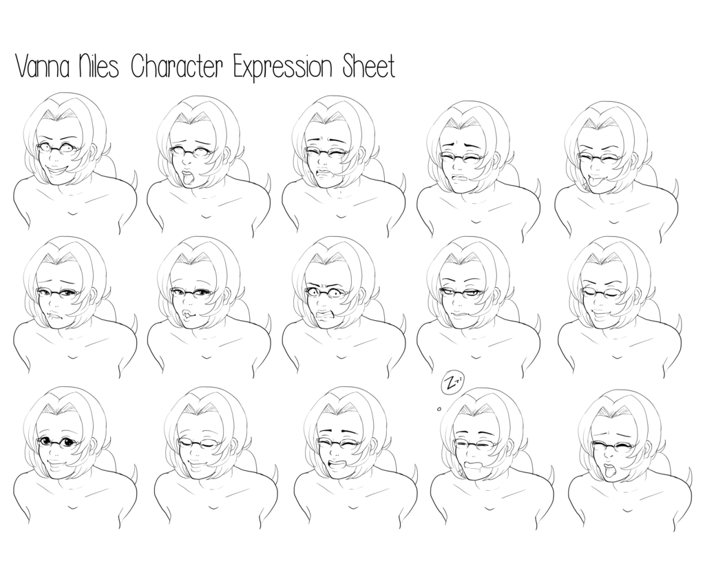 1024x828 Vanna Niles Face Expressions Exercise By Introvertdoll