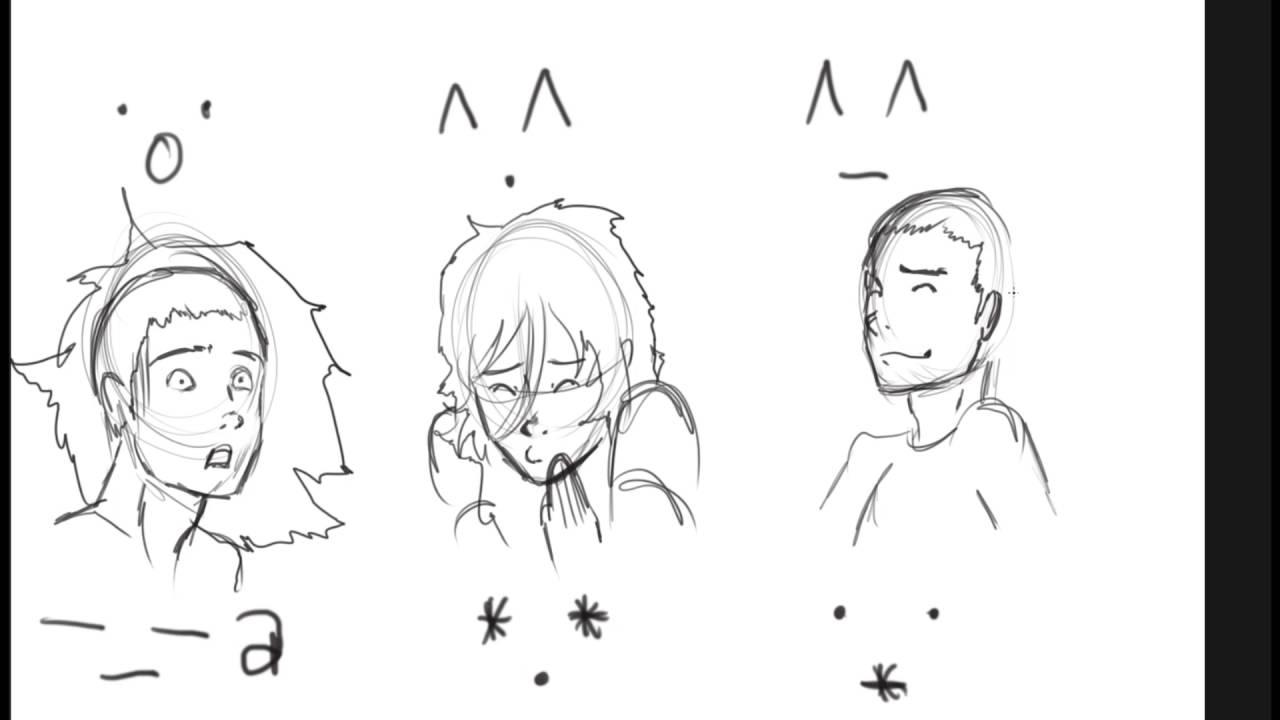 1280x720 Facial Expressions Drawing 01