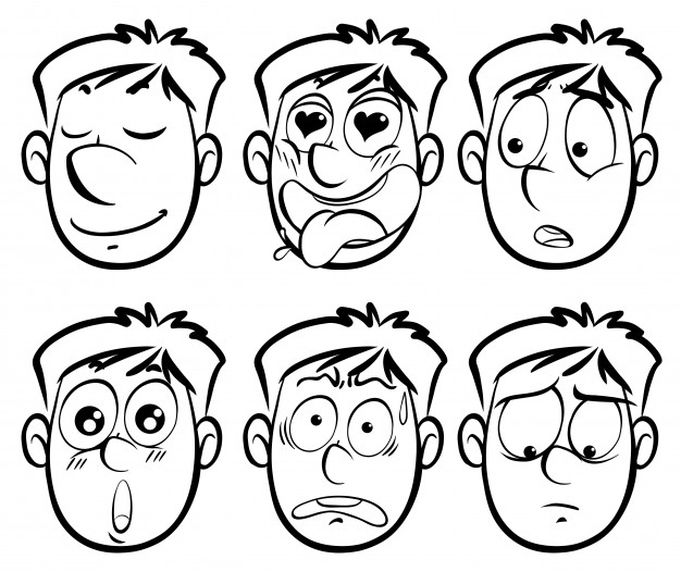 626x526 Different Facial Expressions On Man Vector Free Download
