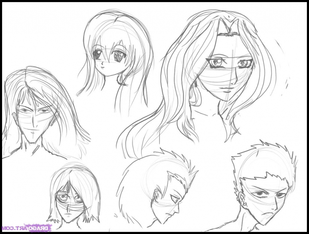 1024x776 How To Draw Anime Face Step By Step