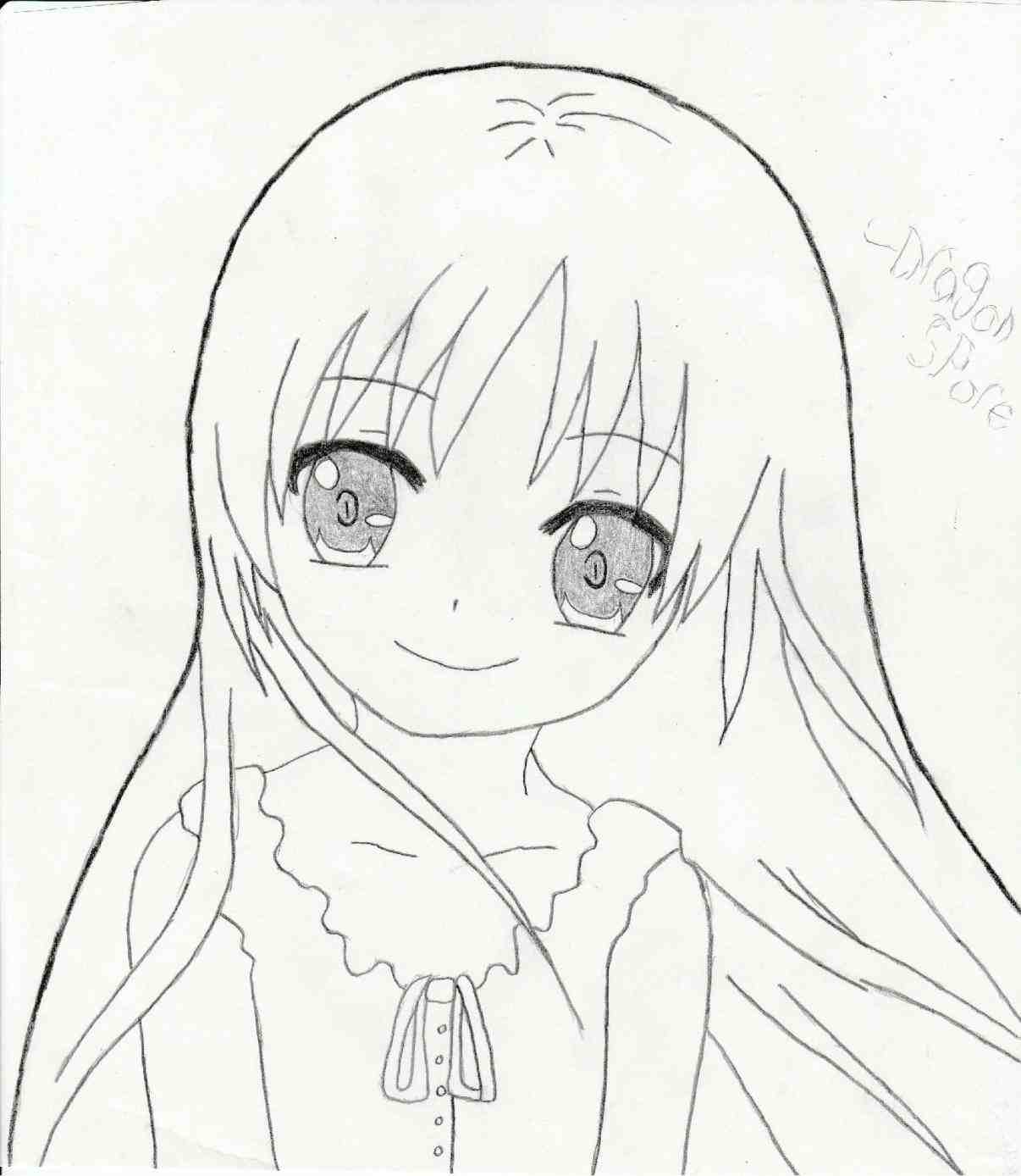 1206x1388 Anime Girl Drawing Easy Face By Kiriakuma On How