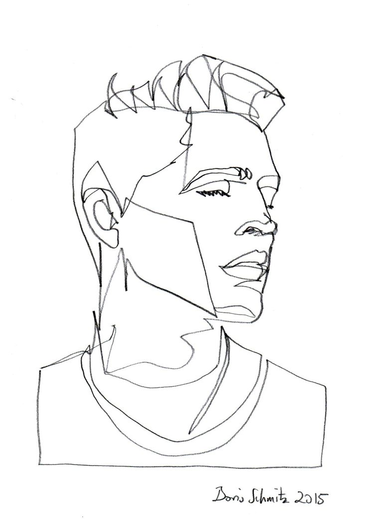 Line Drawing Of A Face
