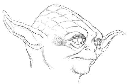 418x277 How To Draw Yoda Feltmagnet