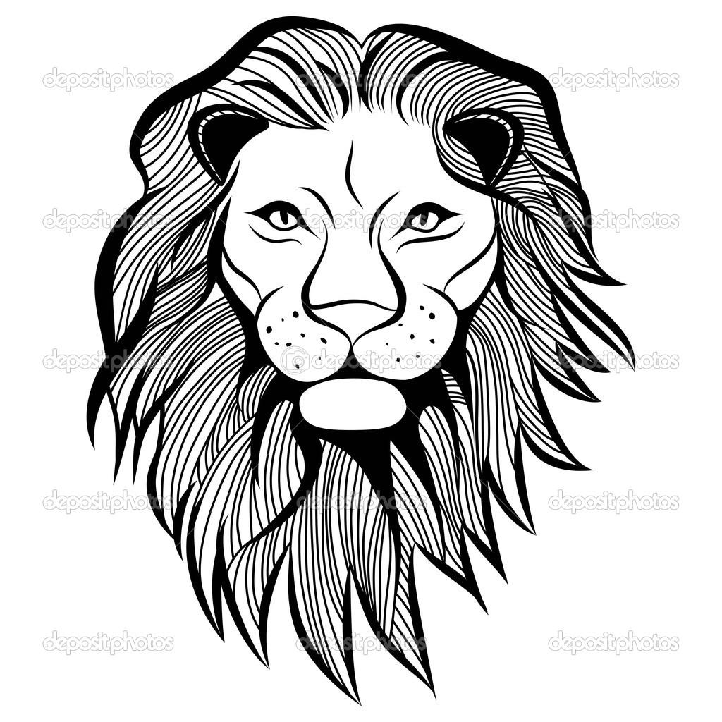 1024x1024 Animal Face Sketch Lion Head Vector Animal Illustration For T