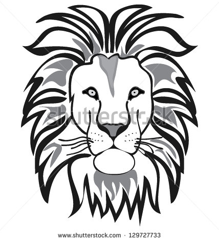 428x470 Best Photos Of Lion Outline Drawing