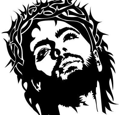 394x380 Jesus Christ Face Vector Image Free Vector In Encapsulated
