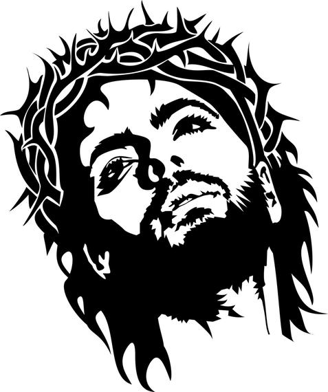 477x570 Jesus Christ Face Vector Image