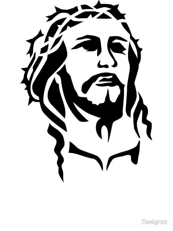Image result for jesus face drawing