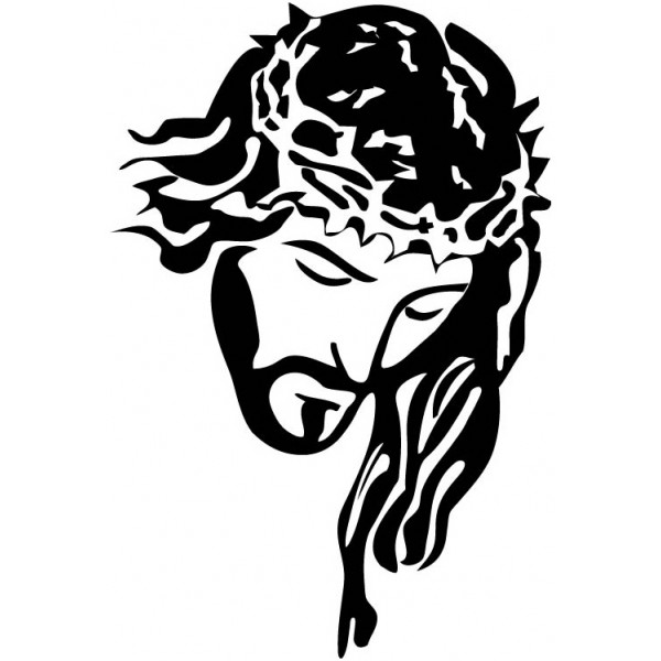 600x600 Line Art Style Of Jesus' Face Jesus Jesus Face