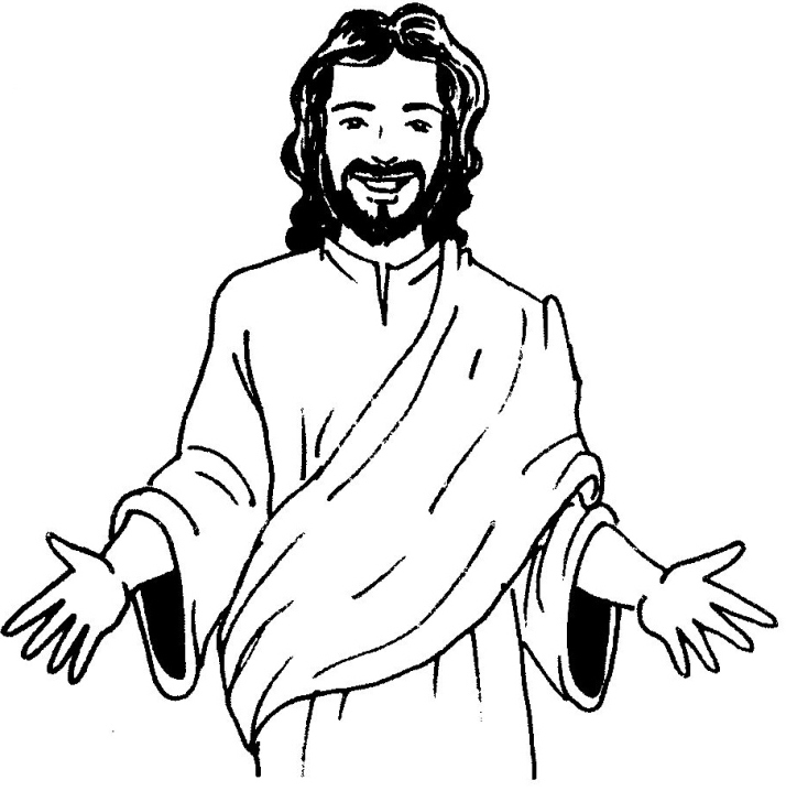 714x718 Face Jesus Colouring Pages Kids Sunday School Ideas Pinterest