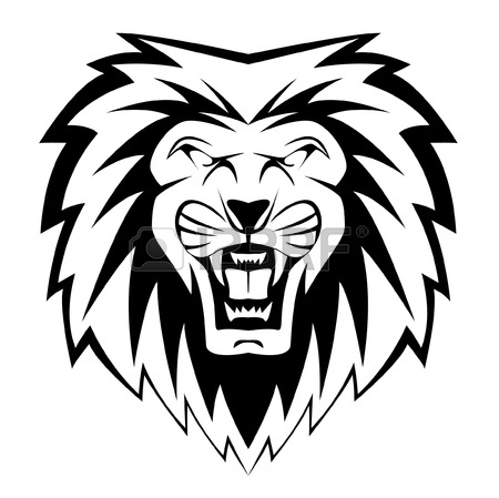 Face Of Lion Drawing