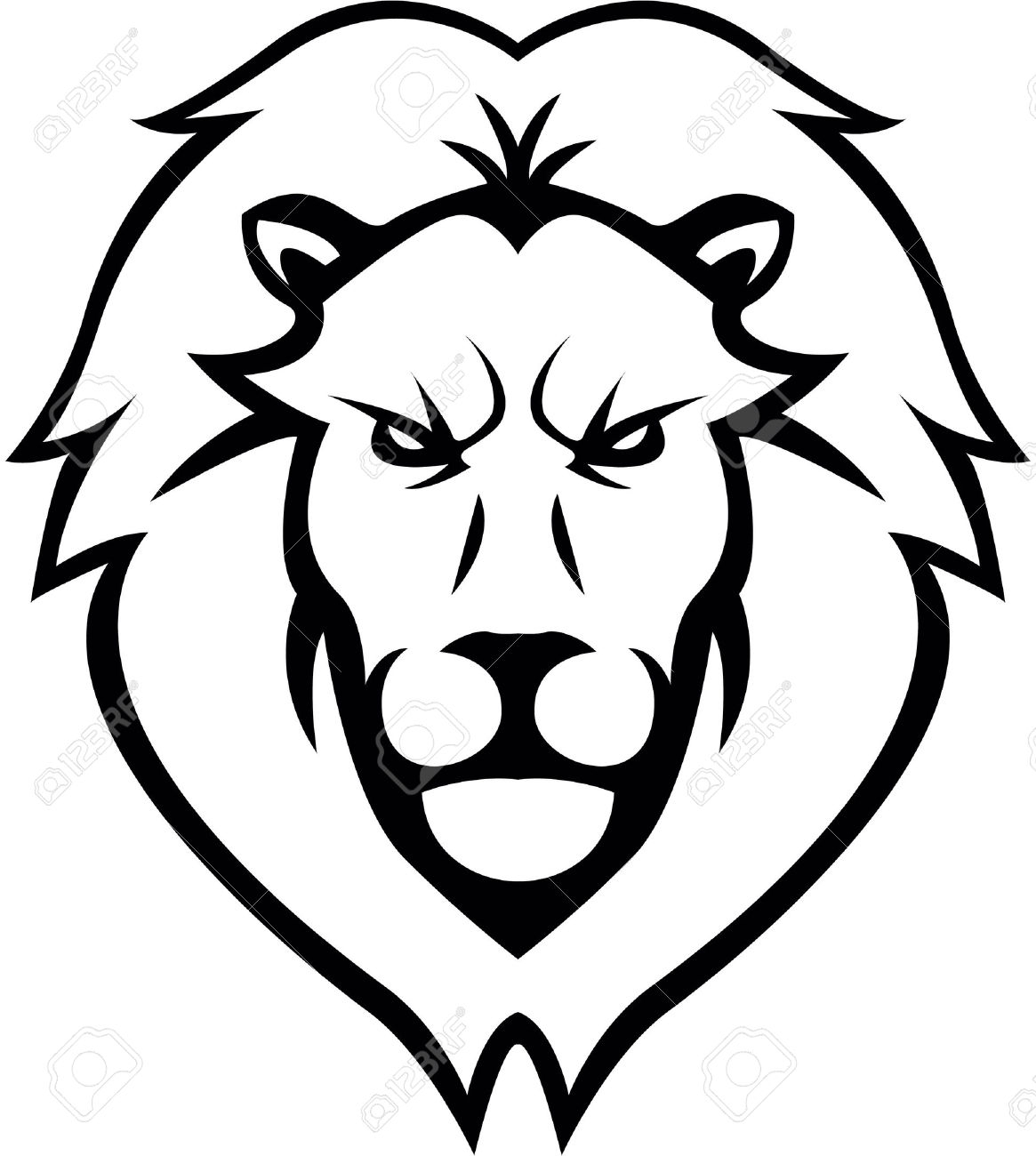 1165x1300 Outline Image Of Lion Face