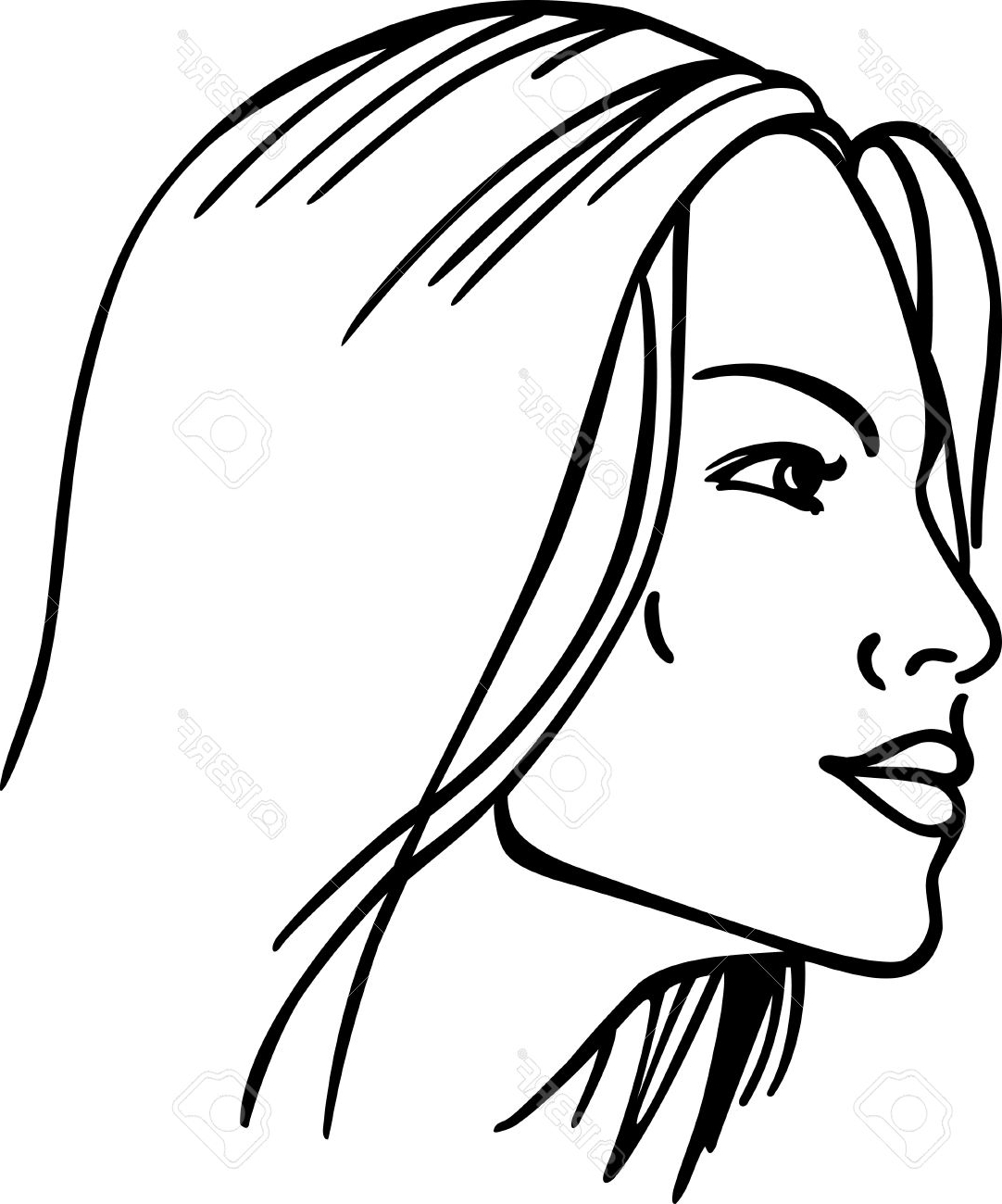 1082x1300 Women Face Sketch Outline Face Outline Drawing Woman Face