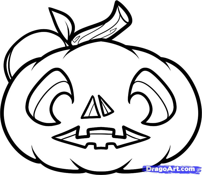 796x690 Drawn Face Pumpkin