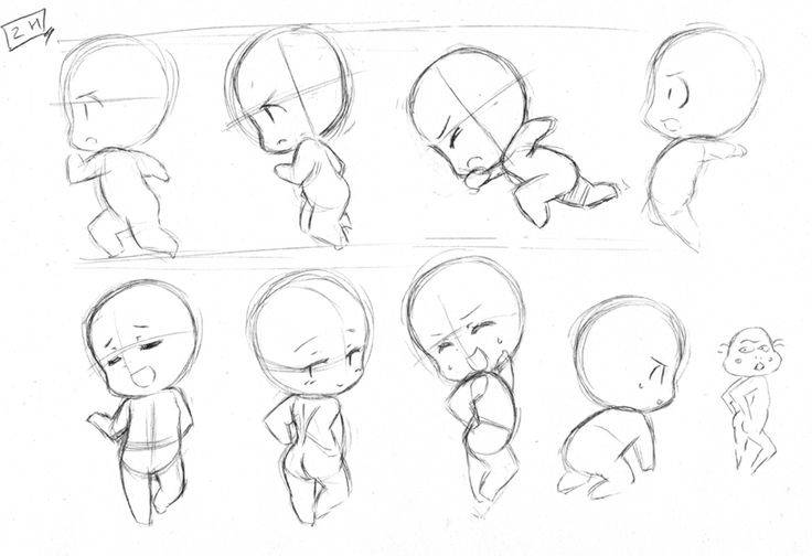 Face Positions Drawing