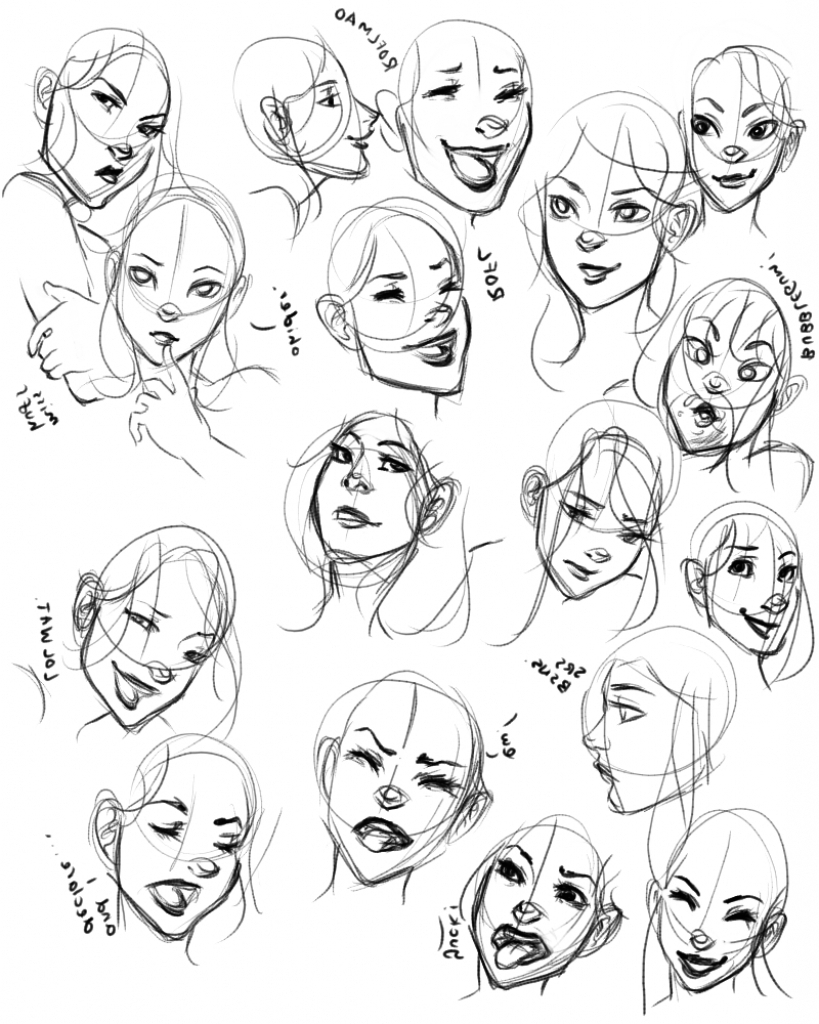 Line Drawings Of Facial Expressions : Face reference drawing at getdrawings free for